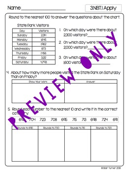 3rd Grade Common Core Math Assessments Numbers And