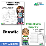3rd Grade Common Core Math Assessments & Student Data Graphing {Bundled}