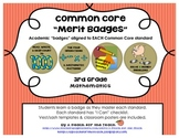 """3rd Grade Common Core Math Badges, with """"I Can"""" Checklists"""