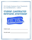 3rd Grade Common Core Math: Constructed Response Assessment (CRA): 3.MD.3