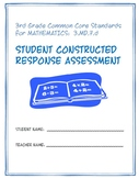 3rd Grade Common Core Math: Constructed Response Assessment (CRA): 3.MD.7.d