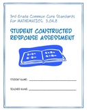 3rd Grade Common Core Math:  Constructed Response Assessment (CRA): 3.OA.8