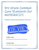 3rd Grade Common Core Math:  Constructed Response Portfolio Assessment