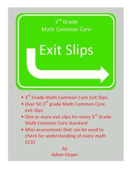 3rd Grade Common Core Math Exit Slips