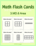 3rd Grade Common Core Math Flash Cards, 3.MD.6 Area