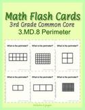 3rd Grade Common Core Math Flash Cards, 3.MD.8 Perimeter
