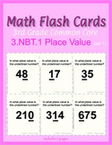 3rd Grade Common Core Math Flash Cards, 3.NBT.1 Place Valu