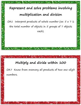 3rd Grade Common Core Math Focus Posters