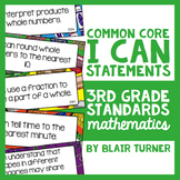 """3rd Grade Common Core Math """"I CAN"""" Statements"""
