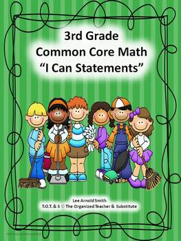 "3rd Grade Common Core Math ""I Can Statements"""