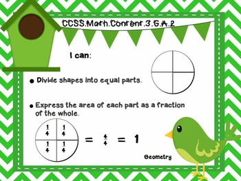 "3rd Grade Common Core Math - ""I Can"" Learning Targets - Birds"
