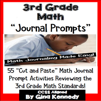 3rd Grade Math Journal Prompts & Activities For Every 3rd Grade Standard!