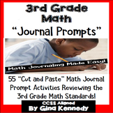 3rd Grade Math Journal Prompts & Activities, All 3rd Grade Standards!
