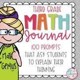 Word Problem Math Journal for Third Grade *Editable*