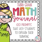 Word Problem Math Journal for Third Grade *Editable*