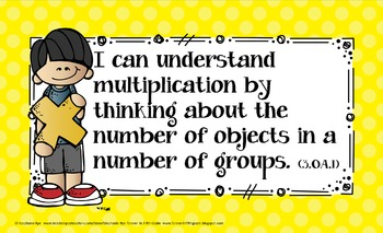 3rd Grade Common Core Math Learning Target Posters