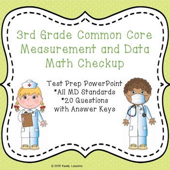 3rd Grade Math Review PowerPoint - Common Core Measurement Test Prep - 3.MD
