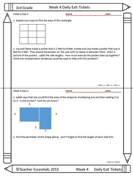 Common Core Math Assessments 3rd Grade Weeks 1-9