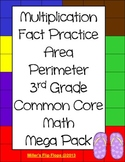 3rd Grade Common Core Math Multiplication Area Perimeter Activities