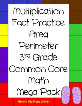 3rd Grade Common Core Math Multiplication Area Perimeter Activities