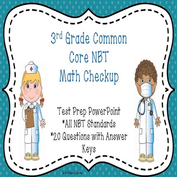 3rd Grade Math Review PowerPoint - Common Core 3rd Grade Test Prep - 3.NBT