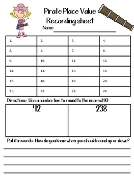 Place Value & Rounding Game (Number Line)