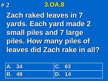 3rd Grade Common Core Math Practice - All 25 Standards Included!