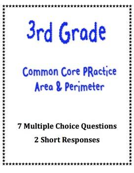 3rd Grade Common Core Math Practice- Area & Perimeter