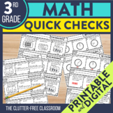 3rd Grade Common Core Math Quick Checks {Easy Assessment i
