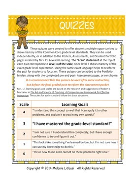 3rd Grade Common Core Math Quizzes - All Standards