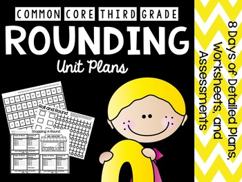 3rd grade common core math rounding 8 days of lesson plans tpt. Black Bedroom Furniture Sets. Home Design Ideas