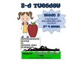3rd Grade Common Core Math Review:  2-D Tuesday  2nd 9 Weeks