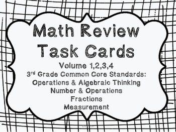 3rd Grade Common Core Math Review Bundle (4 task card sets)