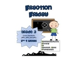 3rd Grade Common Core Math Review:  Fraction Friday  2nd 9 Weeks