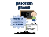 3rd Grade Common Core Math Review:  Fraction Friday   3rd 9 Weeks