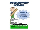 3rd Grade Common Core Math Review:  Measurement Monday 1st