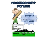 3rd Grade Common Core Math Review:  Measurement Monday  3rd 9 Weeks