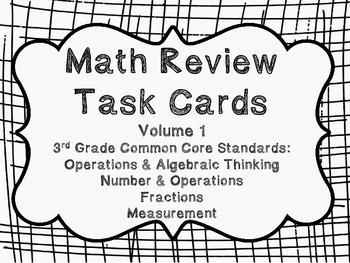 3rd Grade Common Core Math Review Set 1