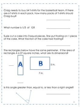 3rd Grade Common Core Math Review - Set 2