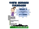 3rd Grade Common Core Math Review:  Think Algebra Thursday  2nd 9 Weeks