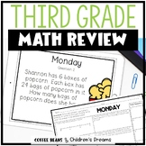 Third Grade End of Year Math Review Week 1
