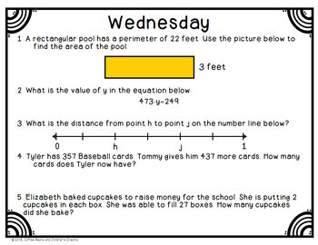 3rd Grade Common Core Math Review Week 2
