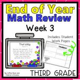 Third Grade End of Year Math Review Week 3