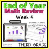 Third Grade End of Year Math Review Week 4