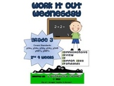 3rd Grade Common Core Math Review:  Work it Out Wednesday   2nd 9 Weeks