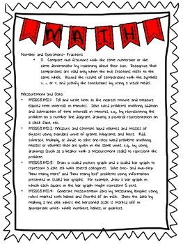 3rd Grade Common Core Math Standards List