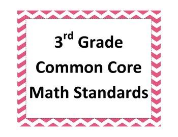 3rd Grade Common Core Math Standards in Chevron