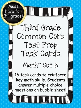 3rd Grade Common Core Math Standarized Test Prep- Set B