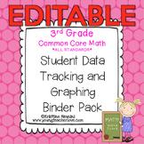 Student Data Tracking Binder | Data Graphing: 3rd Grade Math *EDITABLE*