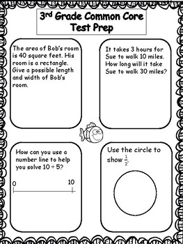 3rd Grade Common Core Math Test Prep